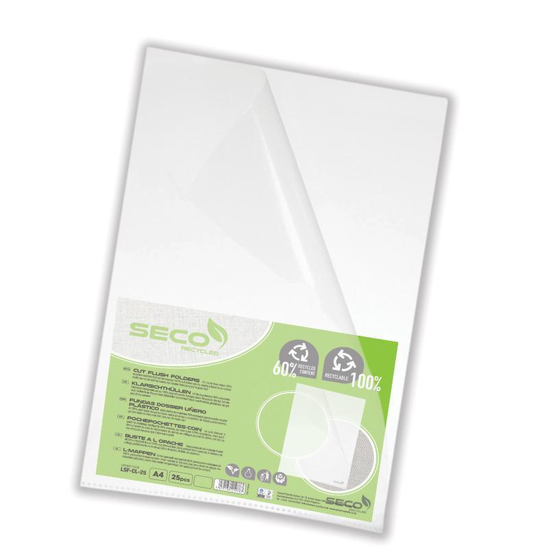Stewart Superior 100% Oxo Bio Clear Cut Flush Folders PK25