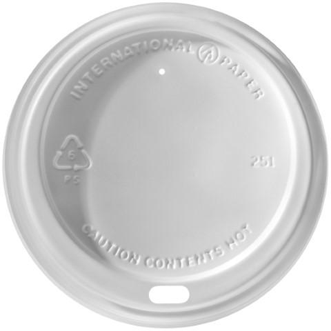 LID LHRDS-16 WHITE PLASTIC DOME FITS 12-20 OZ 1200/CS
