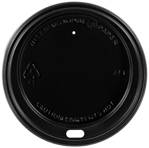 LID LHRDSB-16 BLACK PLASTIC DOME FITS 12-20 OZ 1200/CS