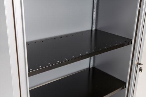 Bisley Essentials Slotted Shelf For Cupboards - Black