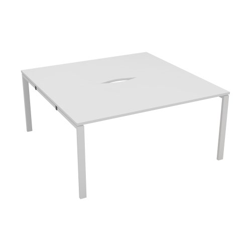 2 Person Bench 1200 x 800 - White Top and White Legs