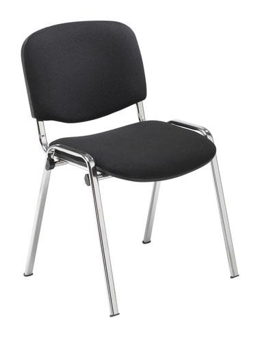 Club Chair - Chrome Frame - Black