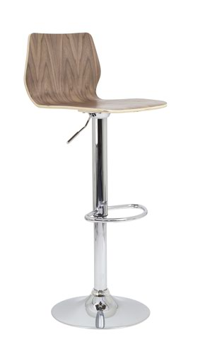 Stork Gas Lift Stool Walnut