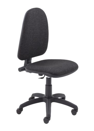 Zoom High Back Operator Chair - Charcoal