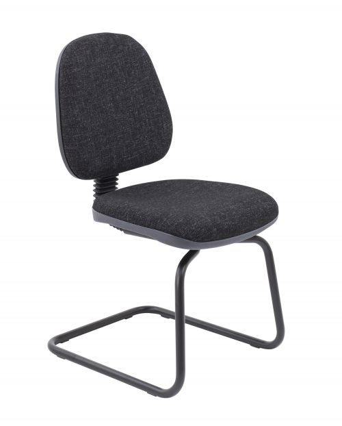Zoom Visitor Chair - Charcoal