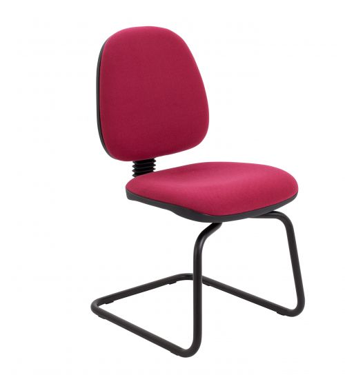 Zoom Visitor Chair - Claret