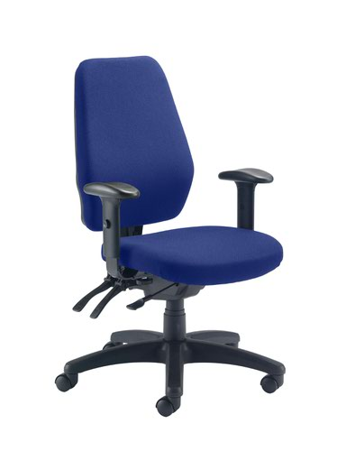 Call Centre Chair Royal Blue Without Seat Slide