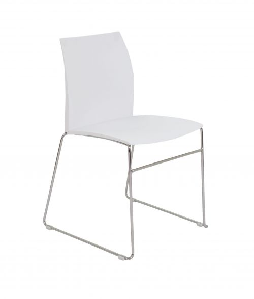 Image for Adapt Skid Chair - White