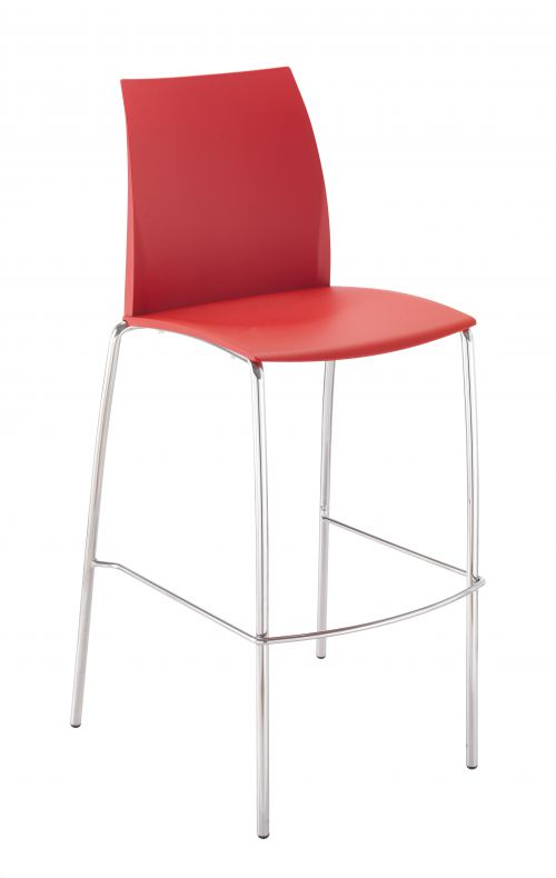 Adapt 4 Leg High Chair Red