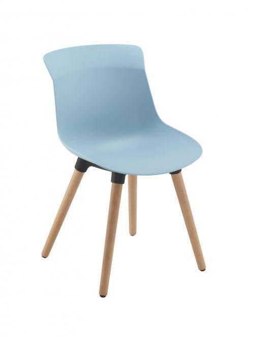 Chester Wooden 4 Leg Pastel Blue