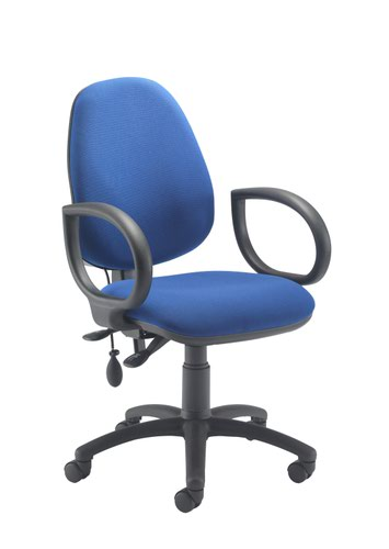 Calypso Ergo 2 Lever With Lumbar Pump + Fixed Arms Royal Blue