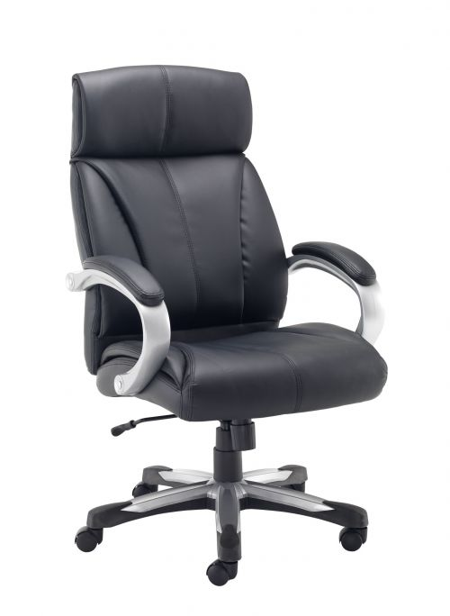 Cronos Heavy Duty Leather Chair Black