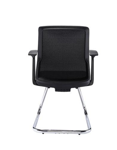 Wondrous Denali Meeting Room Chair Chrome Cantilever Frame Black Dailytribune Chair Design For Home Dailytribuneorg