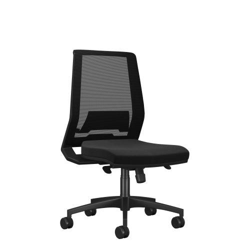 Rome Mesh High Back Chair - Black Frame Black Fabric
