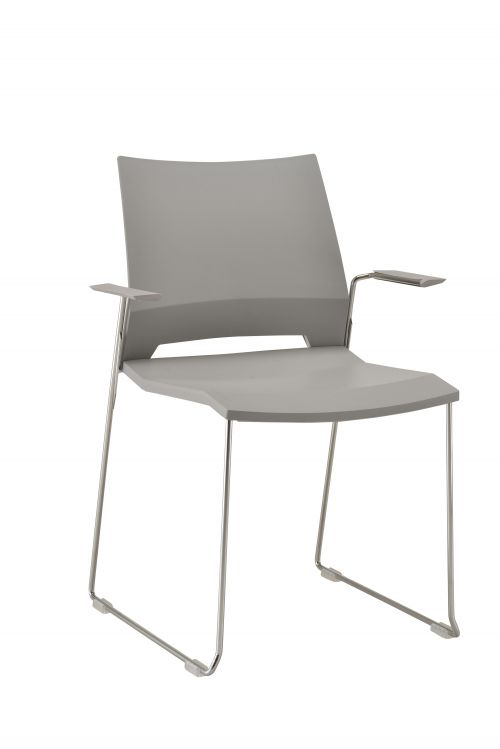 Rome Skid Armchair - Grey