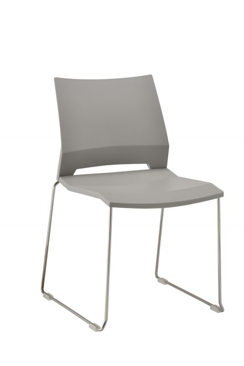 Rome Skid Side Chair - Grey