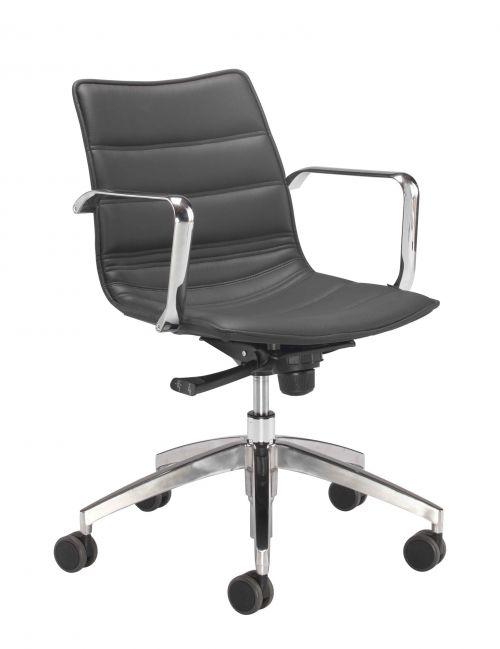 Milan Swivel Chair Black PU