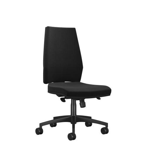 Rome High Back Chair - Black Frame Black Fabric