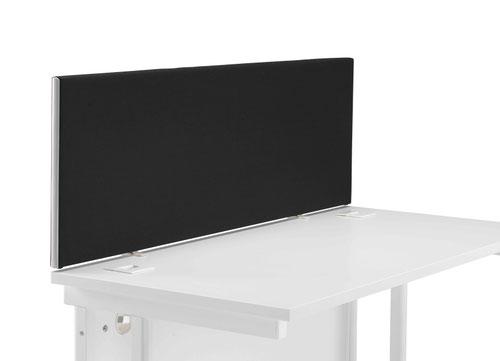 1200 Straight Upholstered Desktop Screen - Black