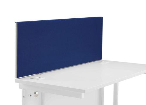 Image for 1200 Straight Upholstered Desktop Screen - Royal Blue