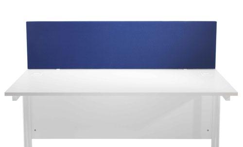 1600 Straight Upholstered Desktop Screen - Royal Blue