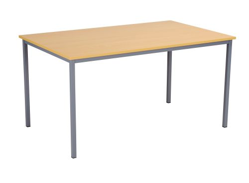 Eco 18 1500X750 4 Legged Rectangular Desk Oak-Black