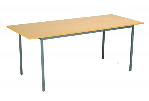 Eco 18 1800X750 4 Legged Rectangular Desk Oak-Black