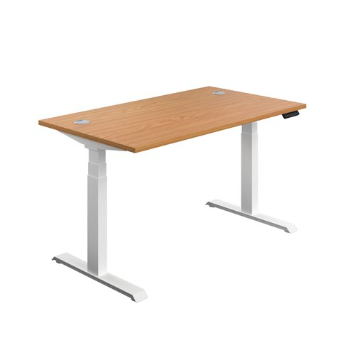 Economy Sit Stand Desk 1200 X 800 Nova Oak-White