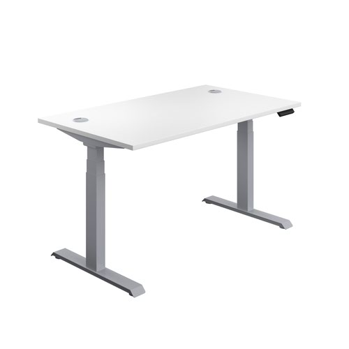 Economy Sit Stand Desk 1200 X 800 White-Silver