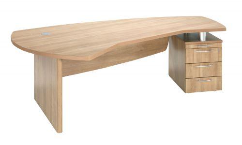 E Space Executive Desk Cappuccino - 3 Drawer