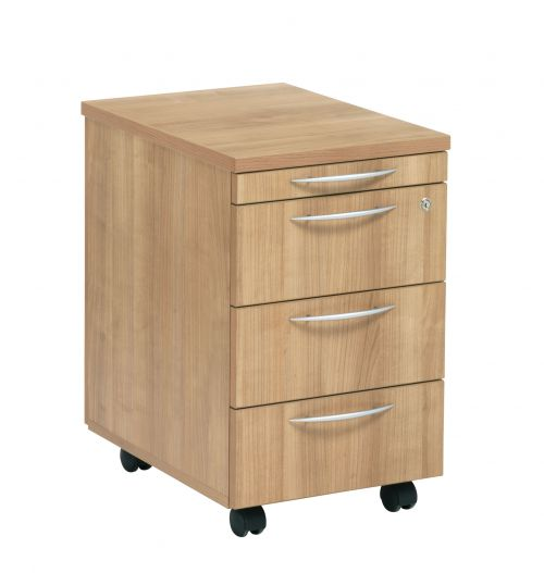 E Space 3 Drawer Mobile Ped Cappuccino