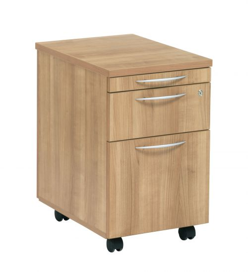 E Space 2 Drawer Mobile Ped Cappuccino