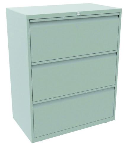 Bisley 3 Drawer Essentials Steel Side Filer - Light Grey