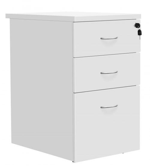 Eco 18 Desk High 800D Ped White
