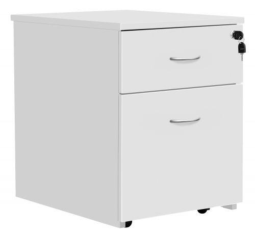 Eco 18 2 Drawer Mobile Pedestal White