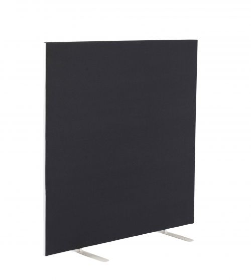 Image for 1200W X 1200H Upholstered Floor Standing Screen Straight - Black