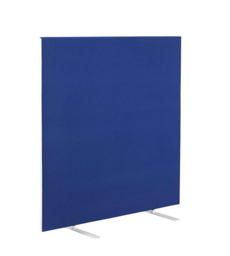 Image for 1200W X 1200H Upholstered Floor Standing Screen Straight - Royal Blue