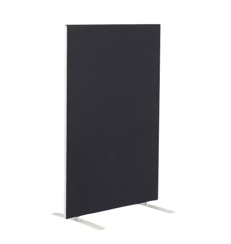 Image for 1200W X 1600H Upholstered Floor Standing Screen Straight - Black