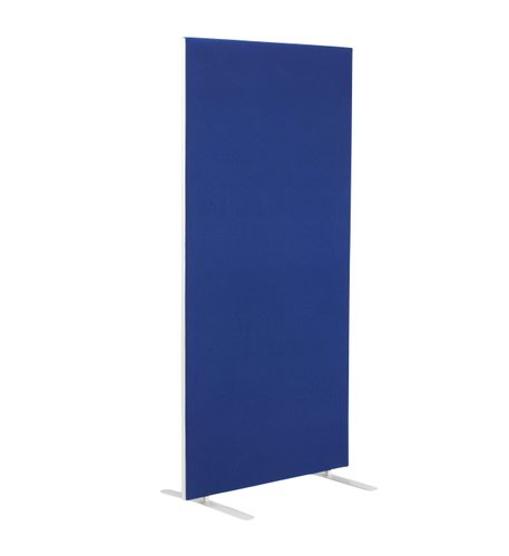 1200W X 1800H Upholstered Floor Standing Screen Straight - Royal Blue