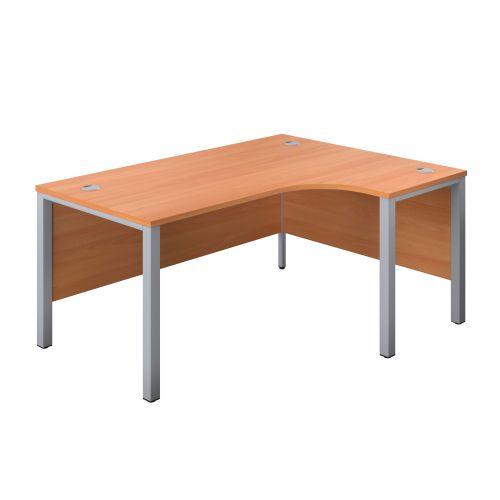 1200X1200 Goal Post Right Hand Radial Desk Beech-Silver