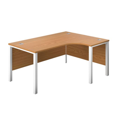 1200X1200 Goal Post Right Hand Radial Desk Nova Oak-White