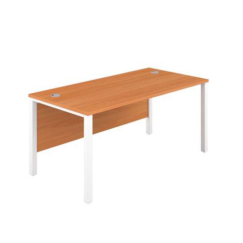 1200X800 Goal Post Rectangular Desk Beech-White