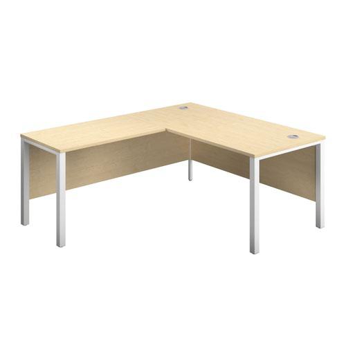 1800X800 Goal Post Left Hand Return Desk Maple-White