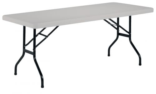 1220 Folding Rectangular Table White