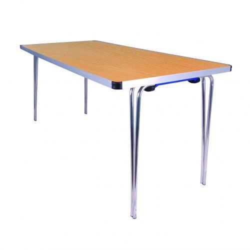 Aluminium Folding Table Rect 1220 Beech