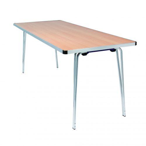 Aluminium Folding Table Rect 1830 Oak