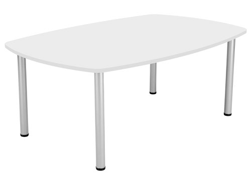 One Fraction Plus 1800 Boardroom Table White
