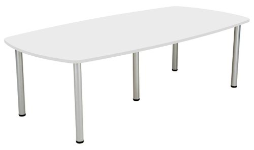 One Fraction Plus Boardroom Table - White