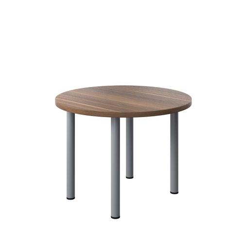 One Fraction Plus 1000 Circular Meeting Table Dark Walnut