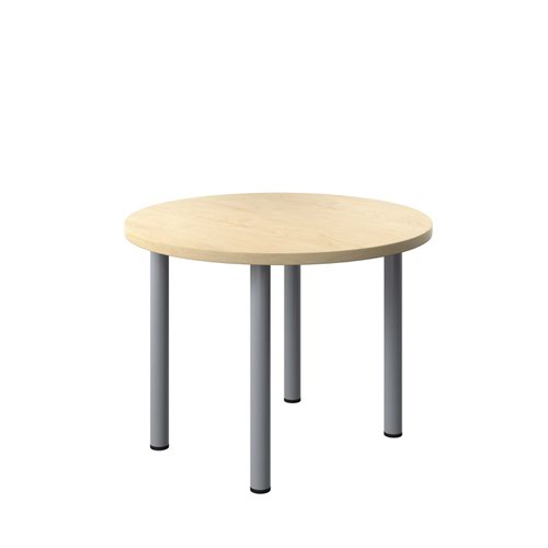 One Fraction Plus 1000 Circular Meeting Table Maple